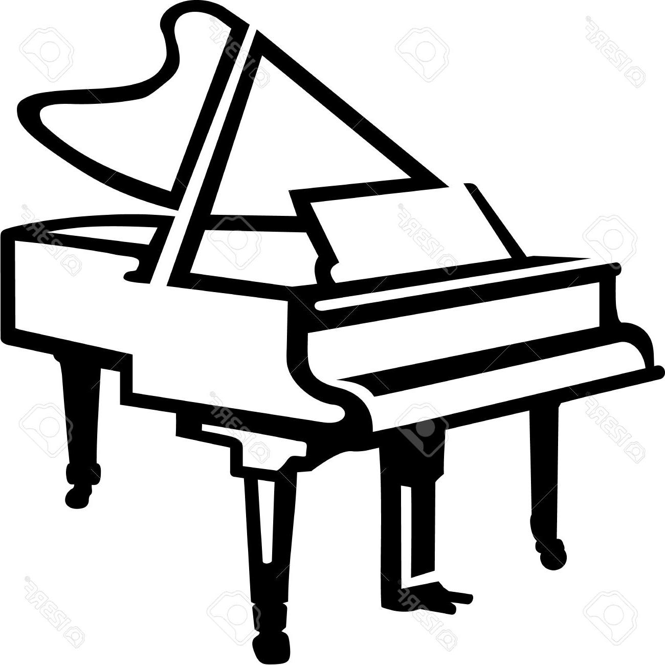Keyboard Line Drawing