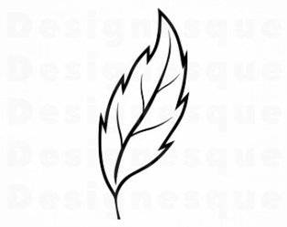 leaf outline clipart svg drawing vector etsy clipartmag dxf silhouette cricut clipground