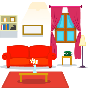 living clipart drawing cartoon vector transparent castle furniture couch table ui clipartmag sofa webstockreview