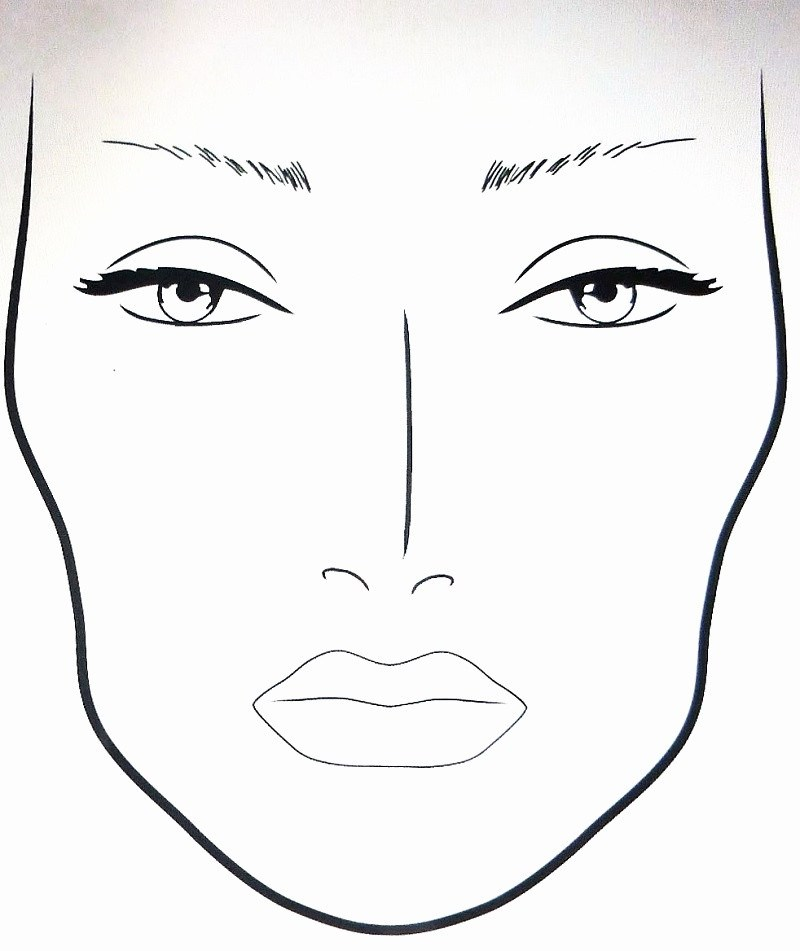 Printable Makeup Face Template