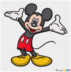 mickey mouse drawing draw cartoon characters easy step tutorial clipartmag webmaster drawdoo