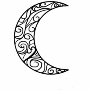 moon crescent drawing easy draw garnet clare lemon fluff clipartmag pearl wattpad