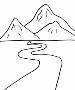 mountain drawing range simple clipartmag