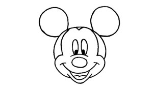mouse mickey drawing simple easy sketches clipartmag disney