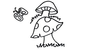mushroom drawing easy clipartmag