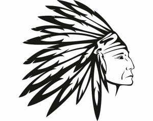 native indian headdress american drawing svg warrior drawings feathers feather chief clipart vector aztec cricut tattoo head mascot skull tribe