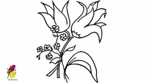 nice flower drawing easy drawings flowers draw clipartmag paintingvalley