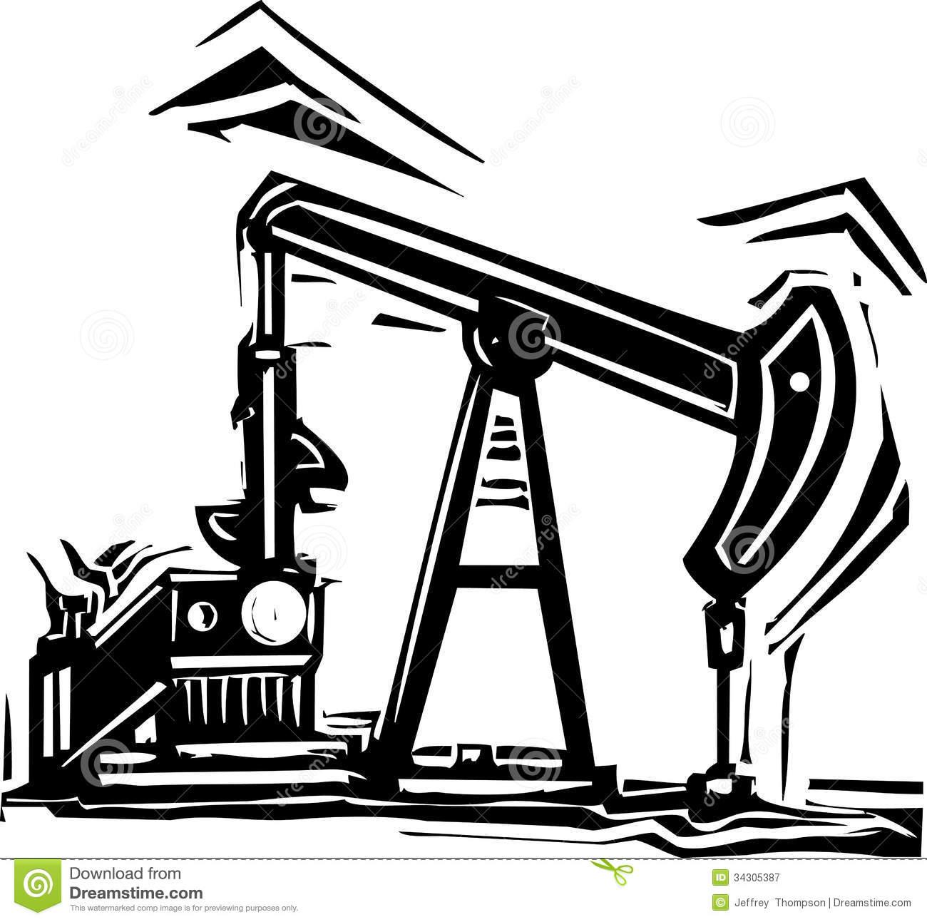 Oil Derrick Drawing