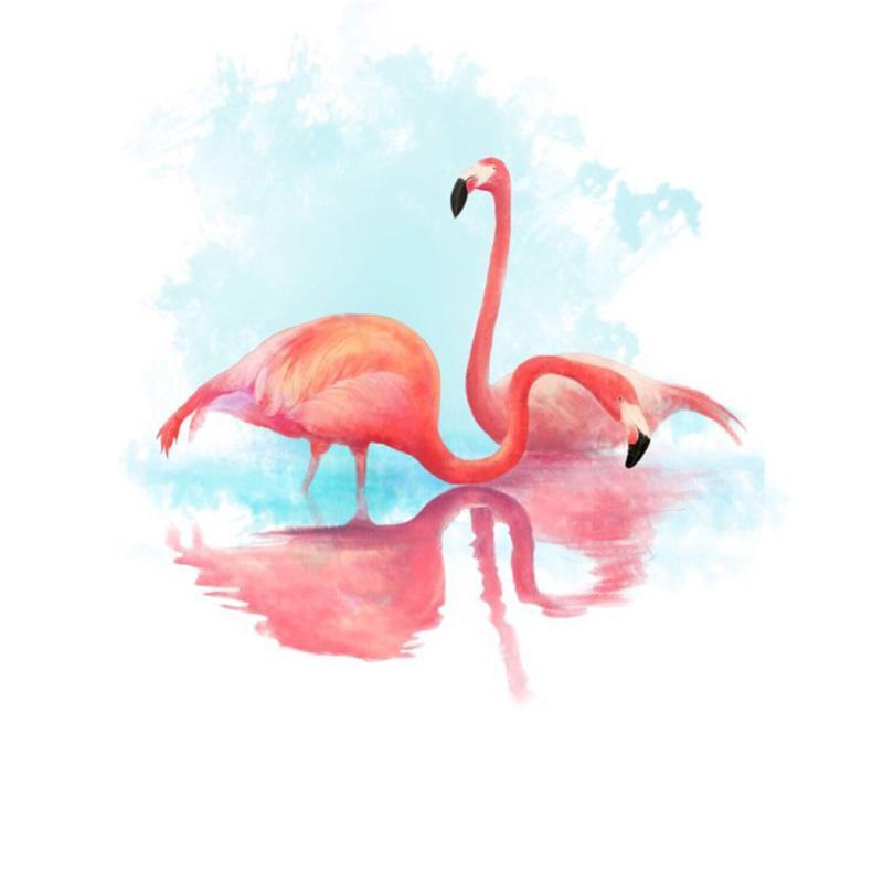 pink flamingo drawing free