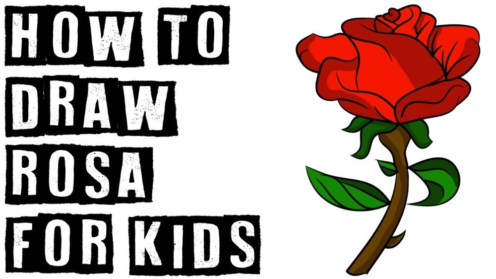 medium resolution of 1280x720 how to draw rosa for kids