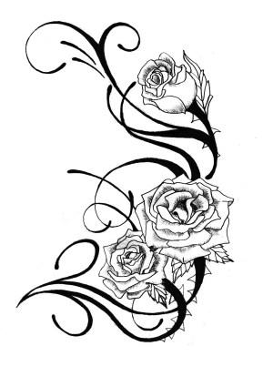 tattoo rose drawings tattoos roses skull vine drawing stencils pencil heart vines simple flowers rosentattoos tatuajes zeichnungen ideen cool rosen