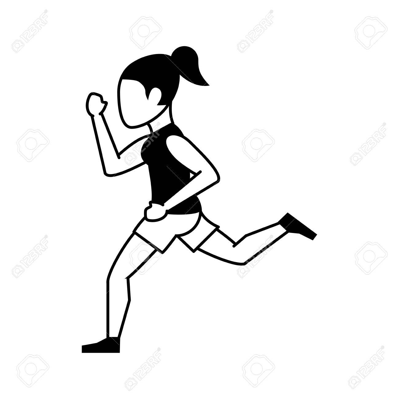 Running Woman Drawing