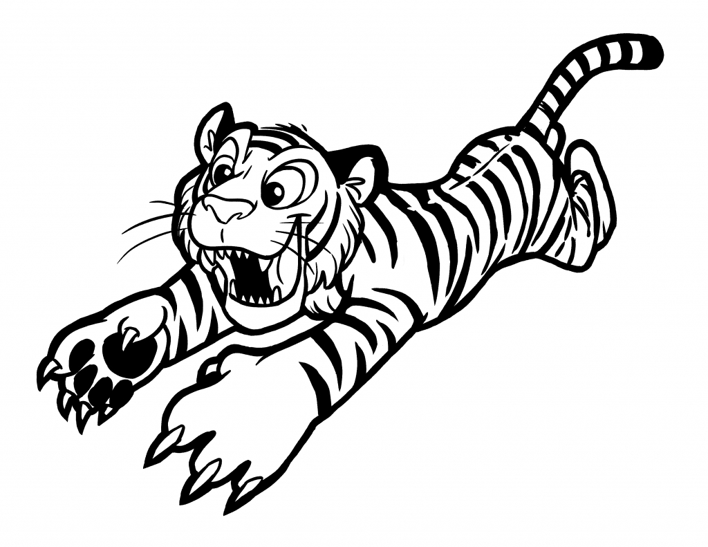 Saber Tooth Tiger Drawing