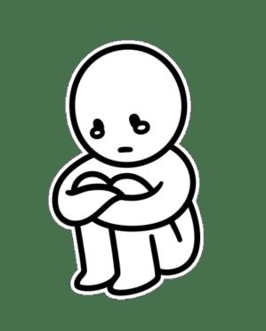 sad boy drawing clipartmag