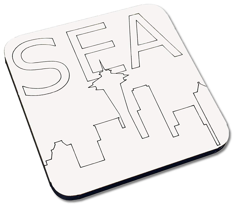 Seattle Skyline Line Drawing