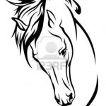 Simple Horse Head Drawing Free Download On Clipartmag