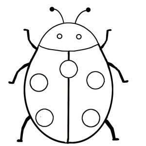 ladybug drawing simple easy clipartmag