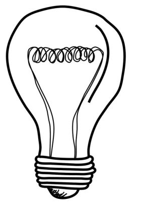 bulb drawing simple lightbulb doodle sketch drawings clipartmag bulbs drawn hand tattoo let