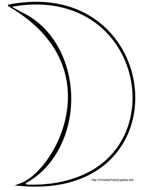 moon drawing crescent simple clipart sketch clipartmag drawings paintingvalley