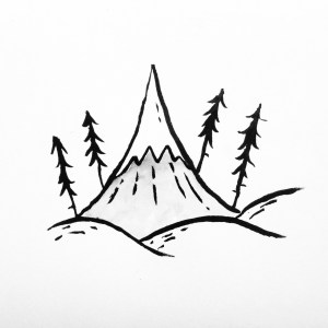 mountain drawing rollyn david simple drawings thorns lonely sketches easy doodle pencil heart camping doodles cartoon clipartmag rose journal amazing