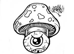 drawing graffiti drawings shroom mushroom wizard trippy simple eye clipartmag mario
