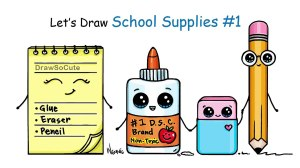 drawing simple draw supplies easy clipartmag