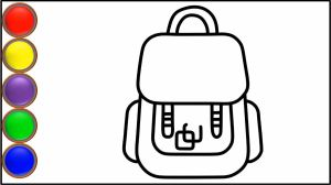 bag drawing simple draw easy drawings step clipartmag paintingvalley