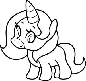 unicorn drawing simple draw easy way clipartmag