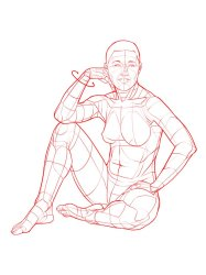 Sitting Poses Drawing Free download on ClipArtMag