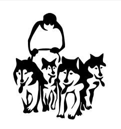 1000x1000 new arrive husky dog huskies sled vinyl wall art sticker decal [ 1000 x 1000 Pixel ]
