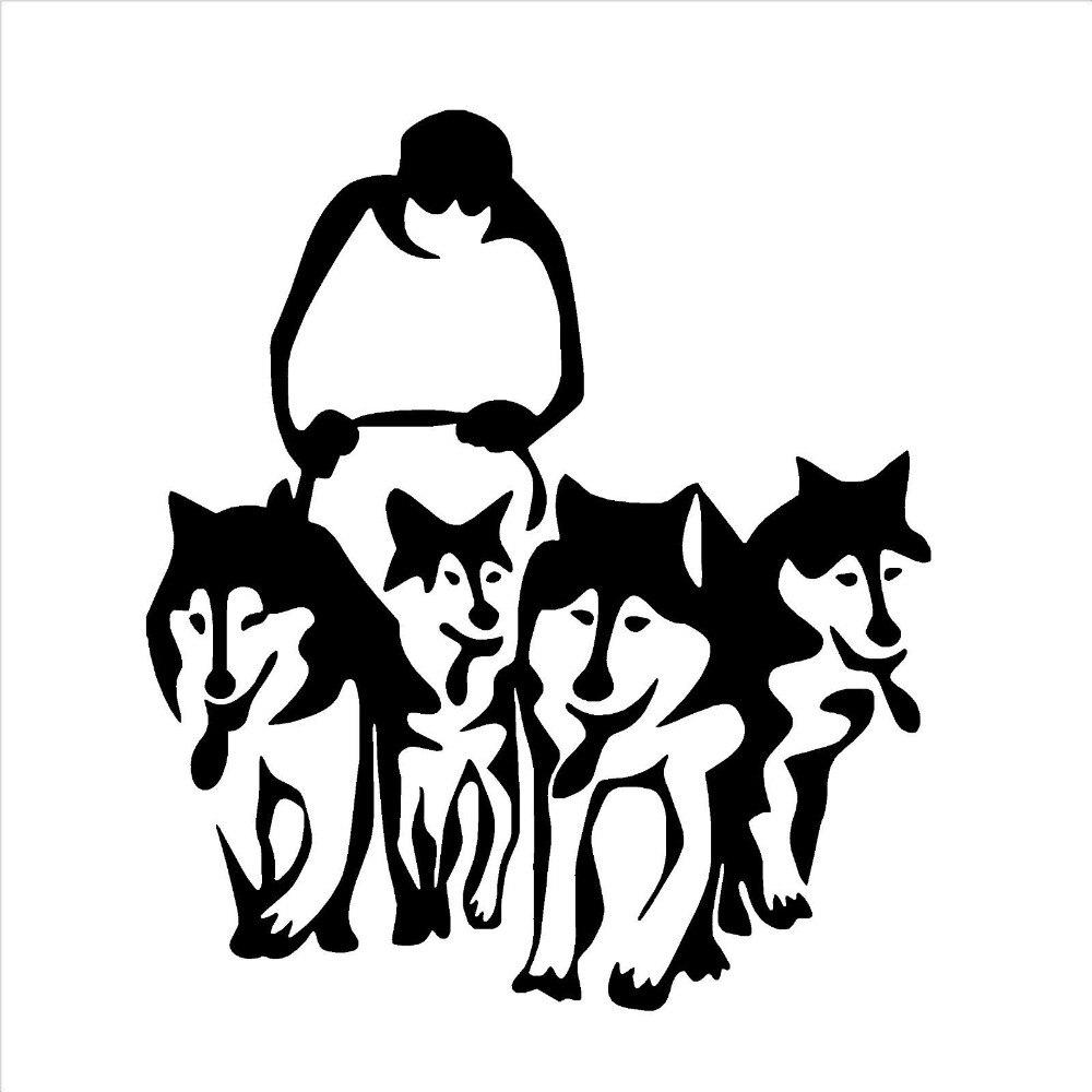 medium resolution of 1000x1000 new arrive husky dog huskies sled vinyl wall art sticker decal