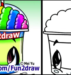 1280x720 draw a cartoon slushie [ 1280 x 720 Pixel ]