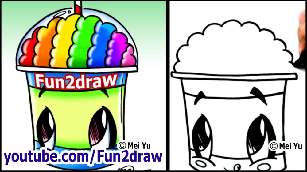 medium resolution of 1280x720 draw a cartoon slushie