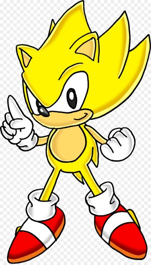 sonic drawing easy super yellow line clipartmag clipart