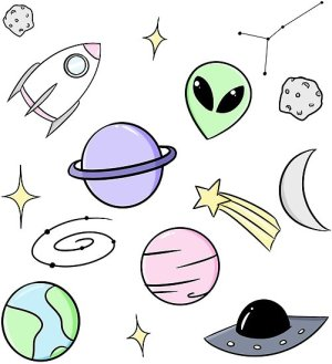 aesthetic space drawing posters prints clipartmag redbubble photographic