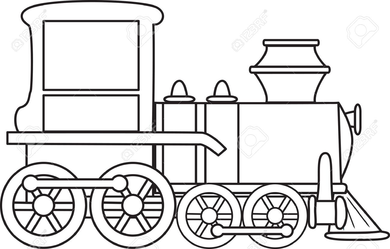 Steam Engine Train Drawing