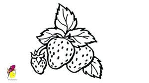 drawing fruit strawberry draw easy vegetables fruits drawings strawberries line flower sketch pencil drawingartpedia clipartmag joyce chen getdrawings watercolor
