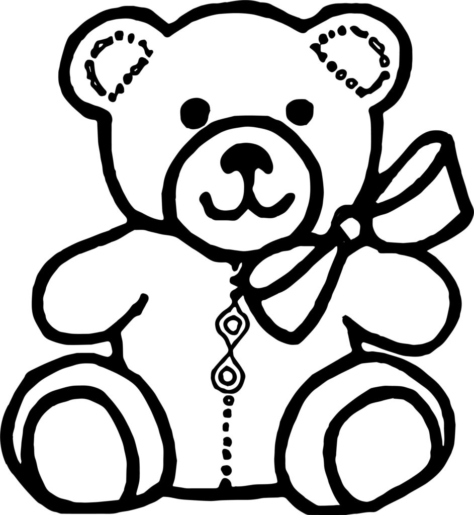 teddy bear drawing images
