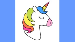unicorn draw easy rainbow clipart drawing hair simple drawings clipartmag coloring paintingvalley