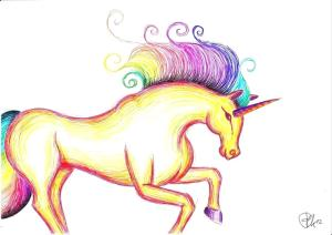 unicorn drawing easy draw realistic way clipartmag