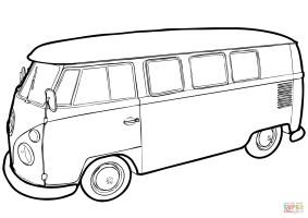 Bus Zum Ausmalen   Kinder Ausmalbilder