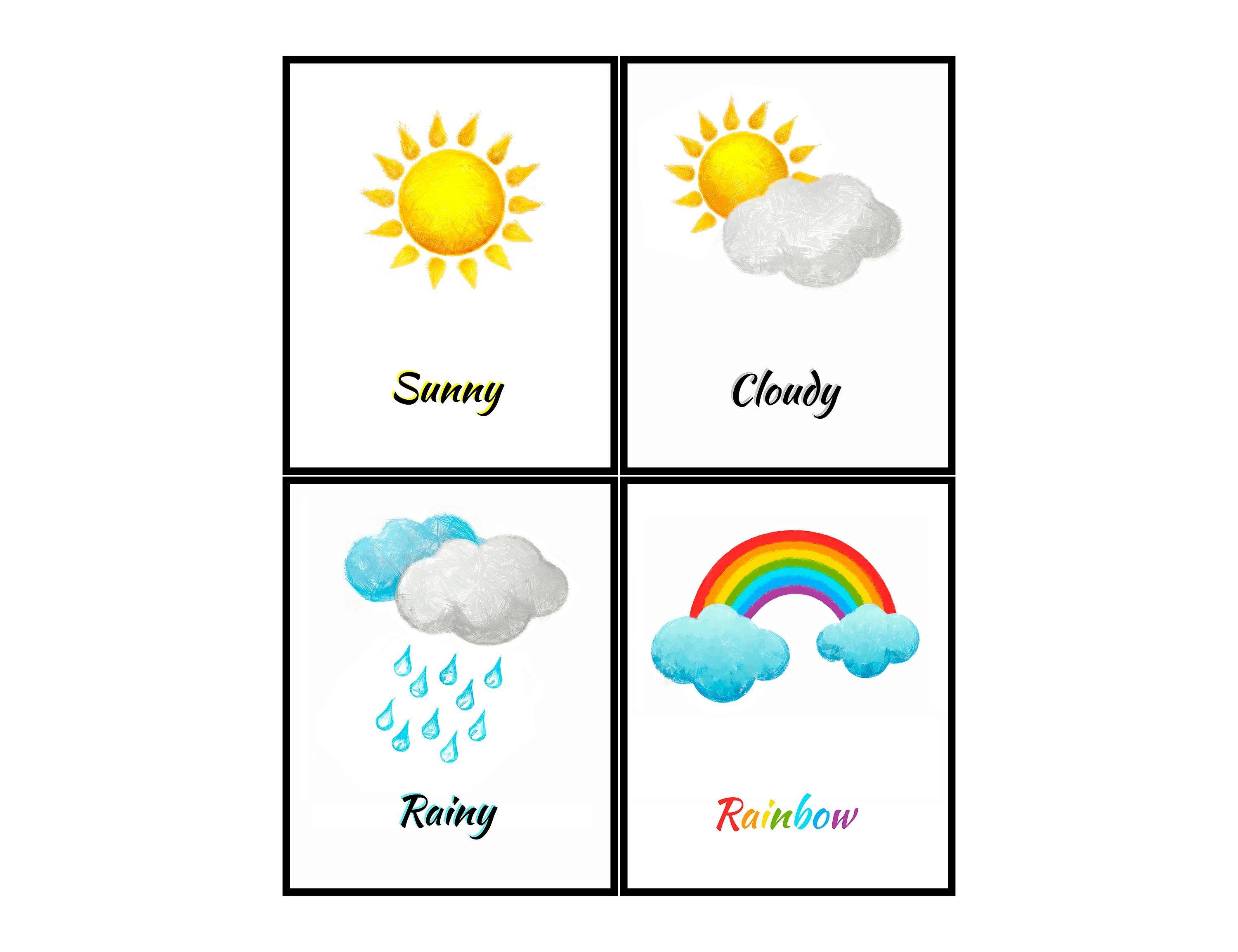 Weather Drawing For Kids