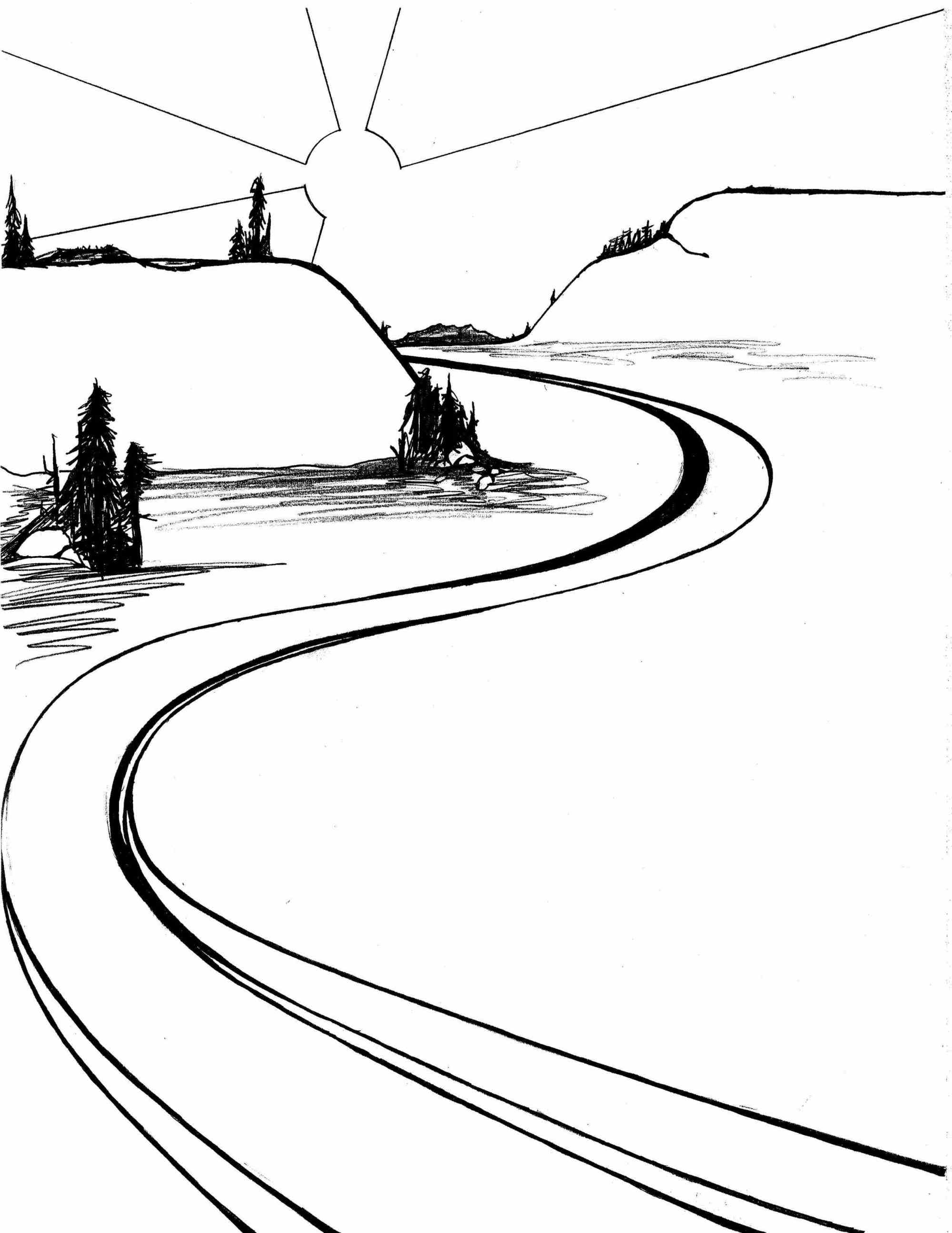 hight resolution of 2503x3242 river drawing winding river for free download