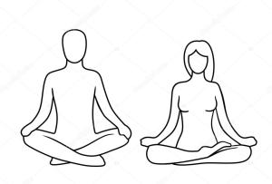 meditation yoga pose drawing lotus poses woman illustration vector icon web clip position label side logotype banner background clipartmag isolated