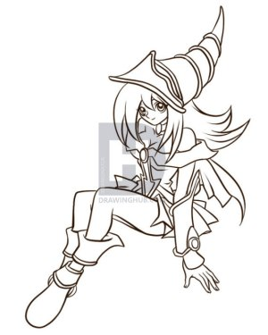 yu gi oh draw magician dark coloring pages yugioh drawing drawings step colouring anime pokemon stencil characters printable dragoart magicians