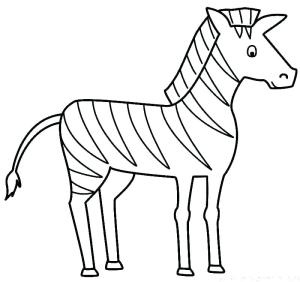 zebra easy drawing coloring clipartmag