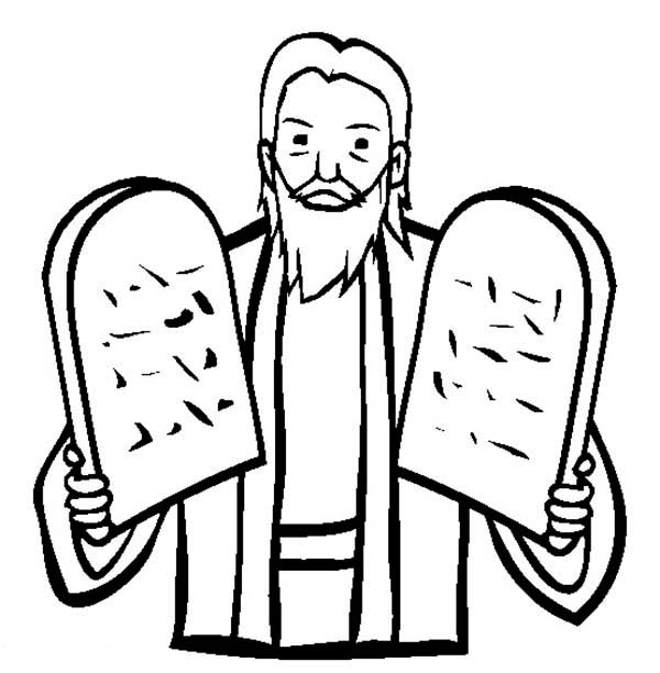 Ten Commandments Tablets Blank Coloring Pages Coloring Pages