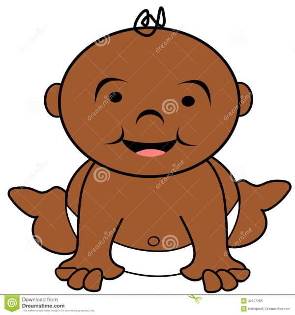 african american baby clipart free
