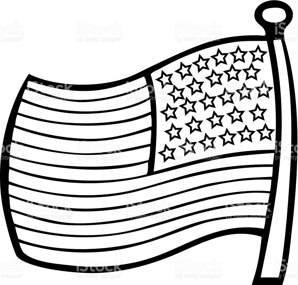 American Flag Black And White Clipart