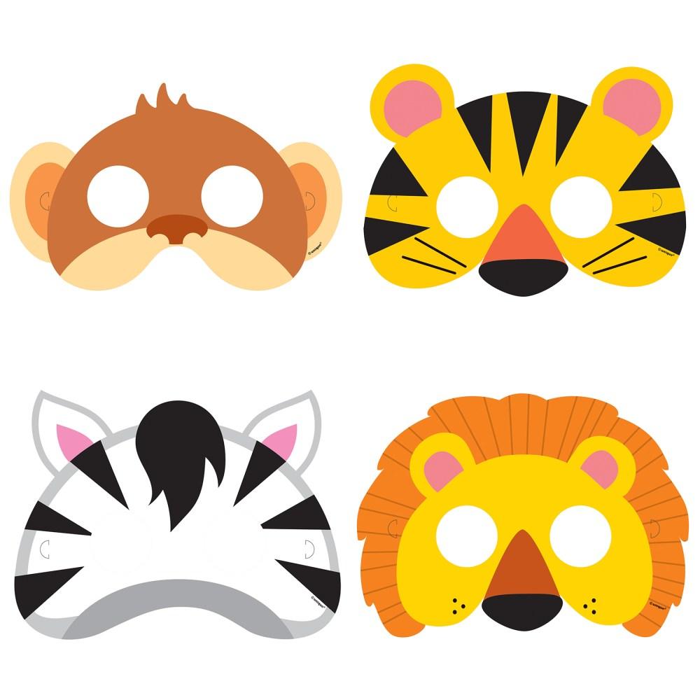 medium resolution of 1800x1800 animal safari party masks safari party accessories